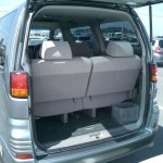 2001 Nissan Elgrand interior rear seat rear hatch