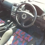 2002 Mitsubishi Galant VR-4 S turbo interior steering wheel