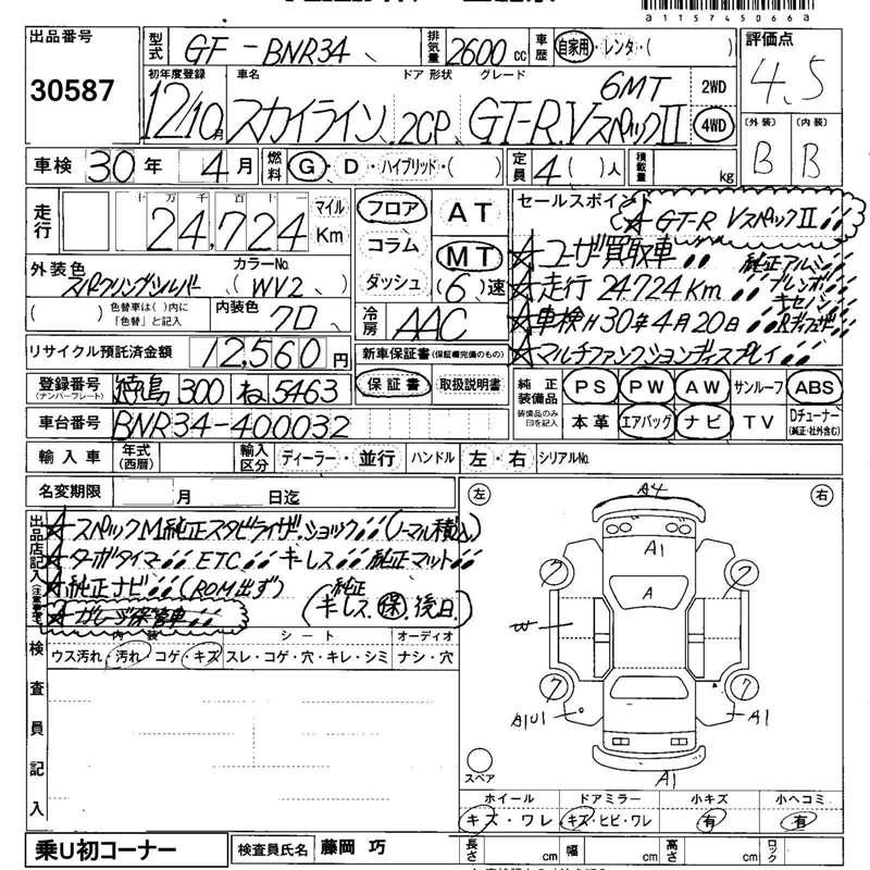 2000 Nissan Skyline R34 Gtr V Spec 2