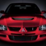 2004 Mitsubishi Lancer EVO 8 red front