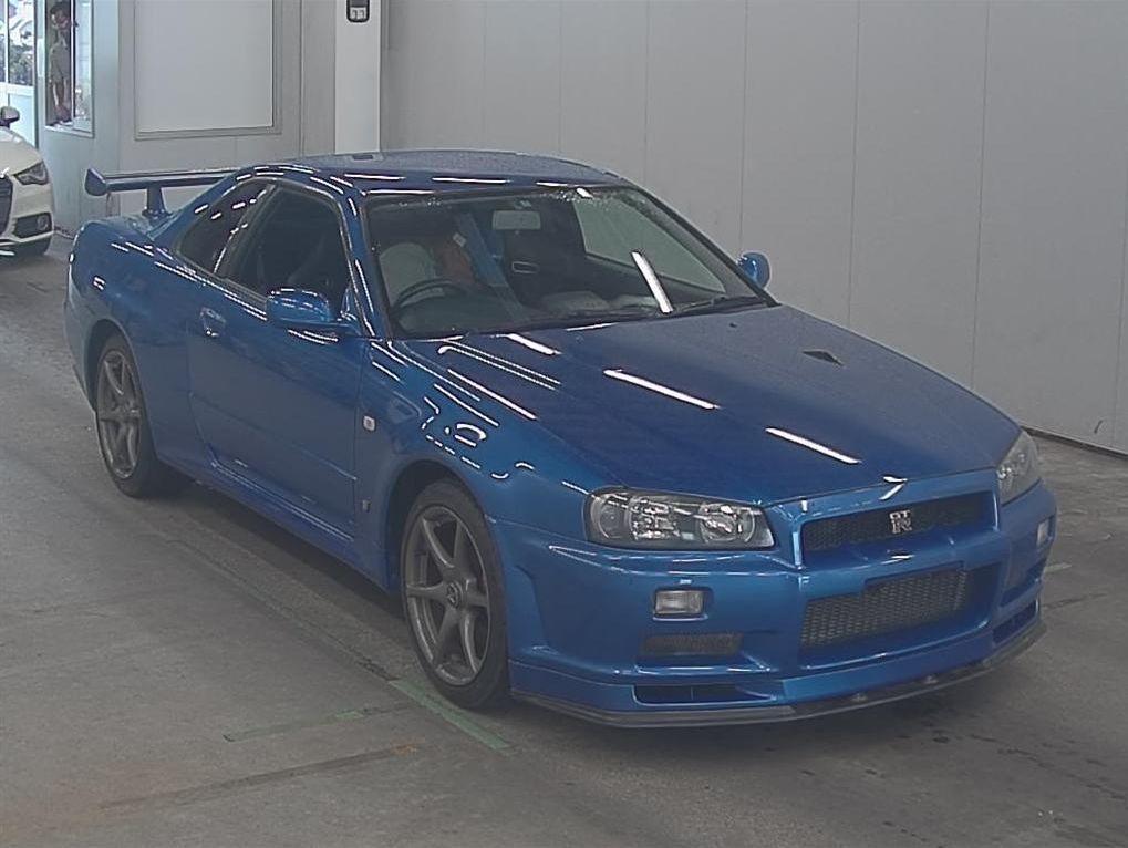 2001 R34 GTR VSpec 2 bayside blue