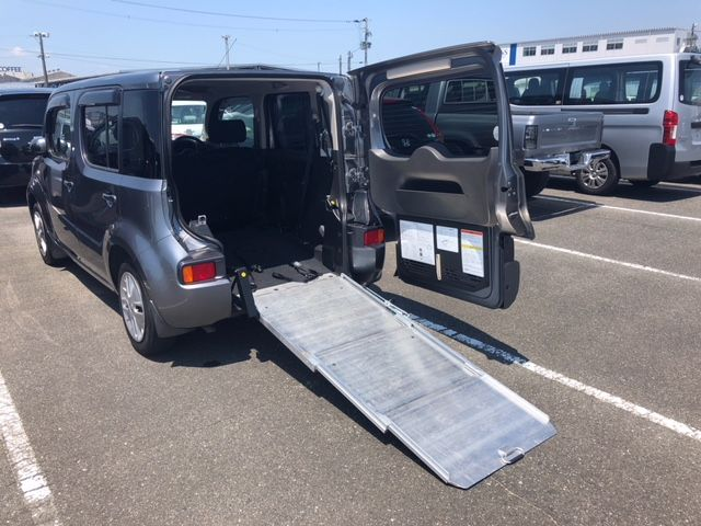 2015 Nissan Cube Z12 Welfare Sloper sloping ramp operation