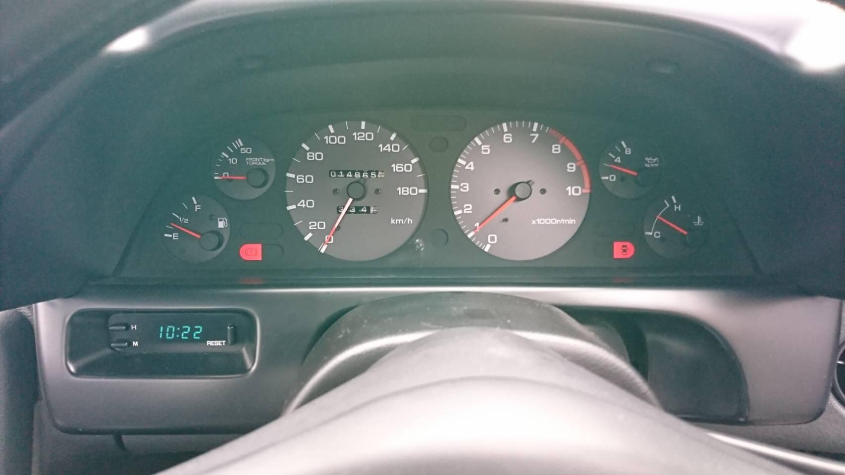 1992 Nissan Skyline R32 GTR odometer