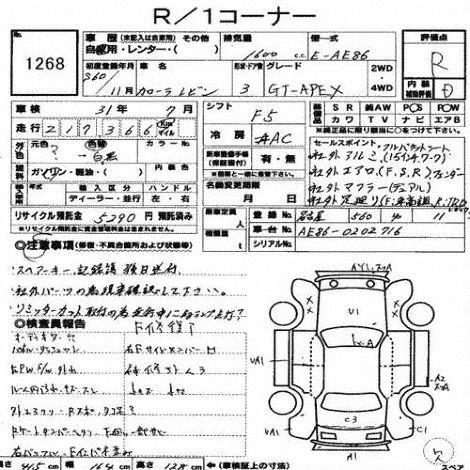 1985 Toyota Corolla Levin GT APEX auction report