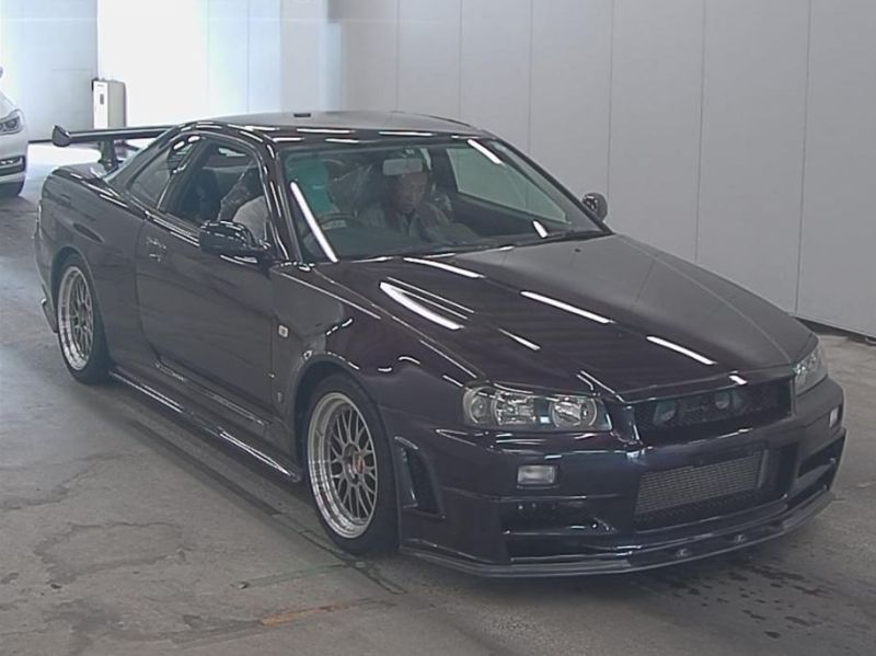 1999 R34 GTR VSpec Midnight Purple II LV4 auction front