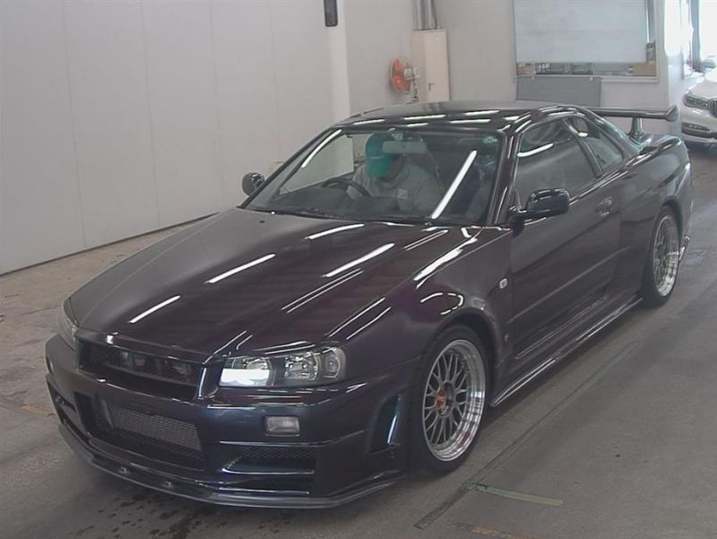 1999 R34 GTR VSpec Midnight Purple II LV4 auction left front
